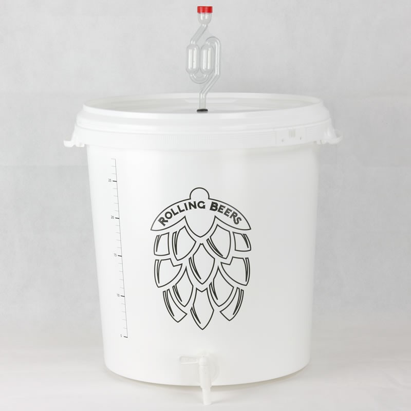brewing/fermentation bucket 30 l graduate
