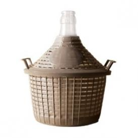 Demijohn 10L with plastic basket