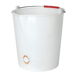 bucket white 14 l without lid + spout