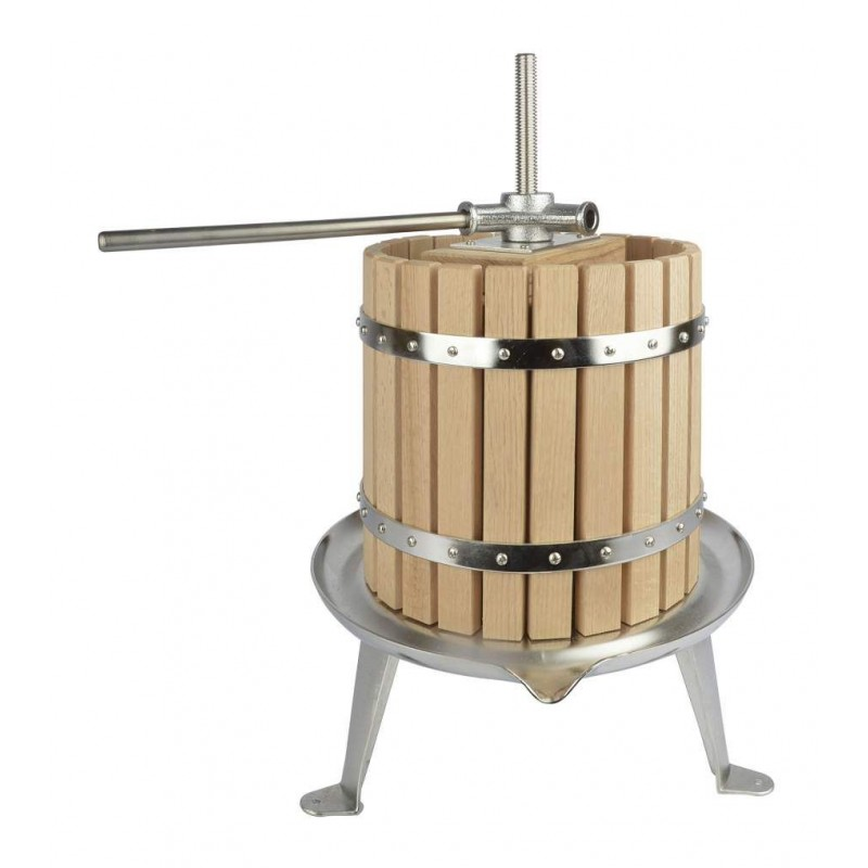 Fruit press with SST base plate and spindle 12 l