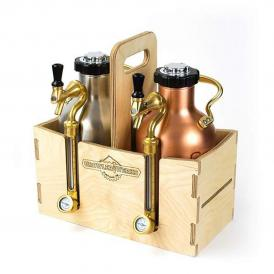 GrowlerWerks uKeg™ 64 wooden case