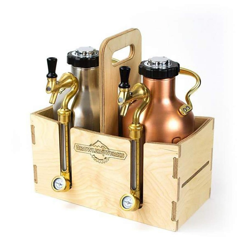 GrowlerWerks uKeg™ 128 wooden case