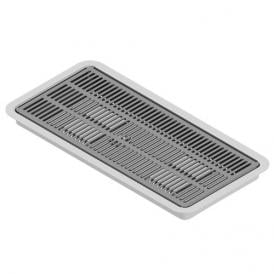 """16"""" x 7"""" Flush Mount Drip Tray - Brushed Stainless - With Drain"""